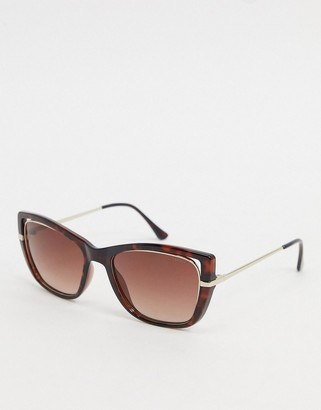 Esprit over sized sqaure sunglasses in tort