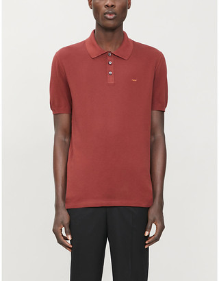 Couture Zegna Logo-embroidery relaxed-fit cotton-pique polo shirt