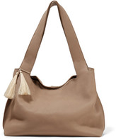 The Row Duplex Textured-leather Shoulder Bag - Mushroom