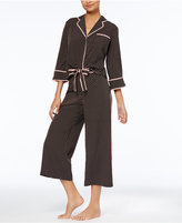 Kate Spade Mini-Dot Top & Cropped Pants Pajama Set