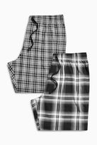 Monochrome Check Shorts Two Pack