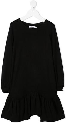 Molo Peplum-Hem Midi Dress
