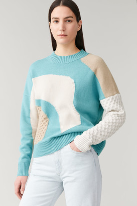 Cos Contrast-Knit Sweater