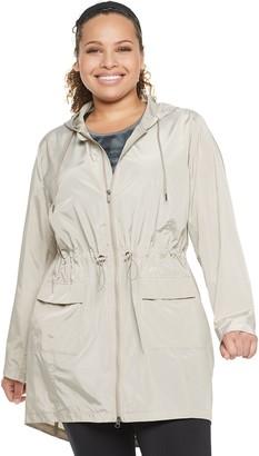 Tek Gear Plus Size Long Woven Anorak Jacket