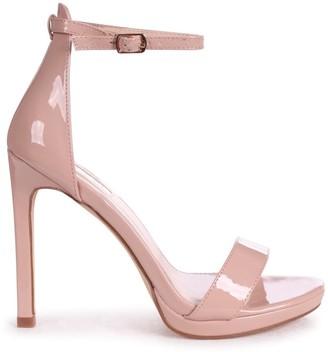 Linzi GABRIELLA - Nude Patent Barely There Stiletto Heel With Slight Platform