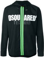 DSQUARED2 logo zipped up hoodie