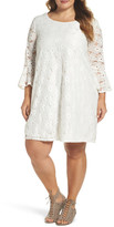 Glamorous Bell Sleeve Lace Shift Dress (Plus Size)