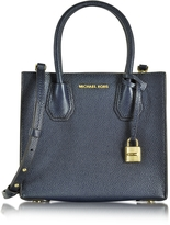 Michael Kors Mercer Medium Bonded-Leather Messenger/Tote