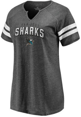 Majestic Women San Jose Sharks Net V-Notch T-Shirt