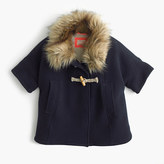 J.Crew Girls' sherpa-lined cape