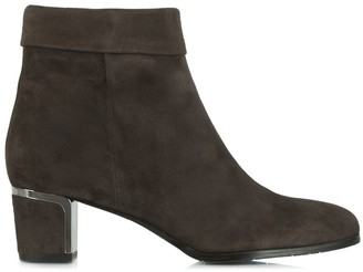 Daniel Enthusiasm Taupe Suede Metal Trim Heeled Ankle Boot