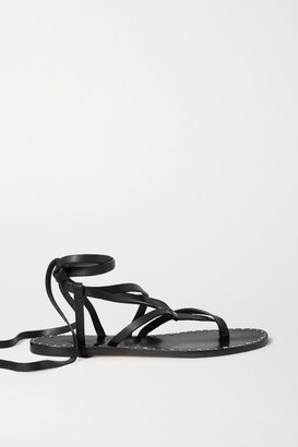 Isabel Marant Jesaro Studded Leather Sandals - Black