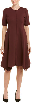 Lafayette 148 New York Asymmetric A-Line Dress