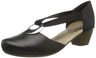 Rieker Women's 41735-00 Closed-Toe Pumps Black Schwarz 00 4 UK