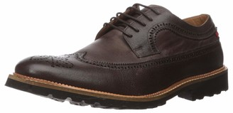 Marc Joseph New York Men's Leather Extra Lightweight Technology Oxford Longwing Detail Glaze/Brown Washed Nappa 11.5 M US