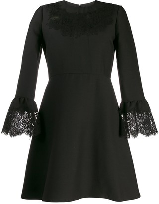 Valentino lace insert mini dress