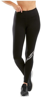 2XU Fitness Stride Compression Tights (Black/Diagonal Stripe Duo Tone) Women's Casual Pants