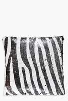 boohoo Reversible Zebra Sequin Cushion