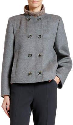 Giorgio Armani Double-Face Wool-Blend Short Coat