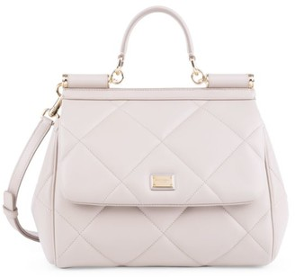 Dolce & Gabbana Sicily Quilted Leather Top Handle Bag