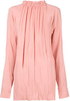 Marni ruffled high neck blouse - women - Viscose/Acetate - 42