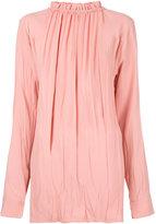 Marni ruffled high neck blouse