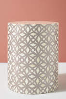 Anthropologie Diamante Inlay Drum Side Table