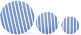 Balenciaga Set Of Three Striped Poplin And Silver-tone Earrings - Blue