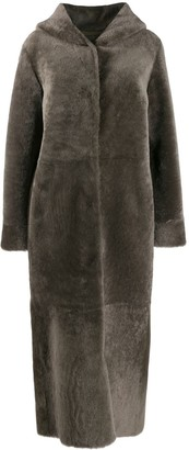 Liska Hooded Fur Coat