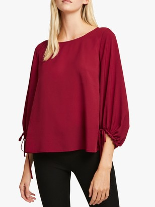 French Connection Crepe Puff Sleeve Blouse
