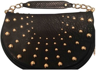 Badgley Mischka Black Leather Clutch bags