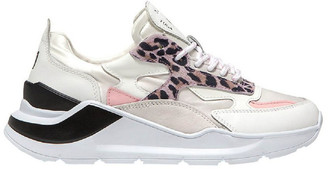 D.A.T.E Fuga Satin Leopard Wh-Pink Sneaker