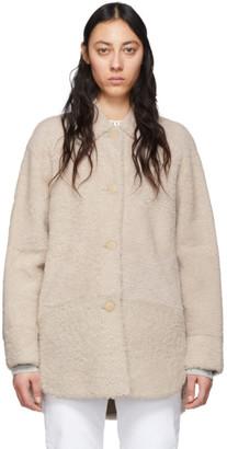 Isabel Marant Reversible Off-White Shearling Sarvey Coat
