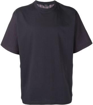 Qasimi Striped Colour Block T-Shirt