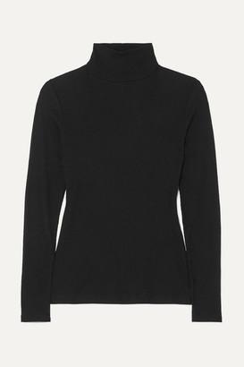 Ninety Percent Kaye Ribbed Organic Cotton-jersey Turtleneck Top - Black