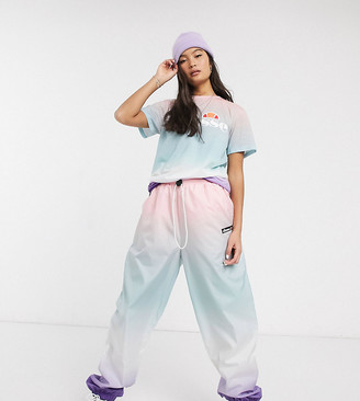 Ellesse relaxed joggers in rainbow fade print co-ord