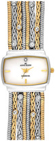 AK Anne Klein Anne Klein Single Diamond Two Tone Bracelet Watch, 25mm x 19mm