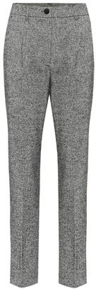Dolce & Gabbana High-rise straight wool-blend pants