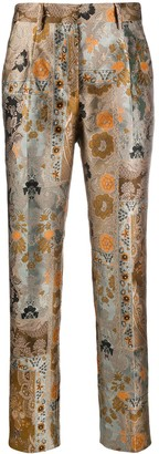 Etro Embroidered Paisley Trousers