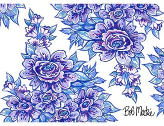 Bob Mackie Flatweave Blue/Purple Rug