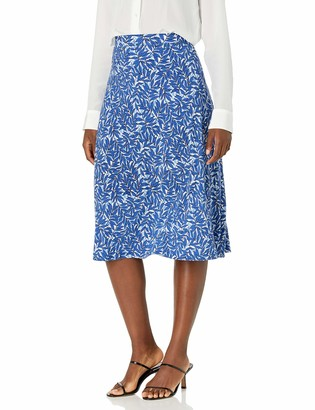 Kasper Women's Summer Leaves Printed MIDI Flare Skirt