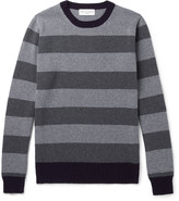 Officine Generale - Striped Merino Wool And Cashmere-blend Sweater