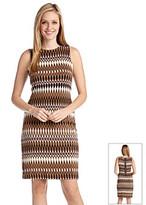 Karen Kane Ikat Exposed Zipper Dress