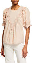 The Great The Sparrow Top w/ Eyelet Trim