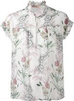 Giambattista Valli floral print ruffled blouse - women - Silk - 42