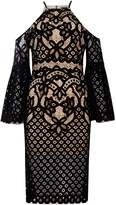 Bardot Cold Shoulder Lace Bodycon Dress