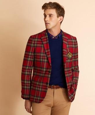 Brooks Brothers Wool-Blend Royal Stewart Tartan Sport Coat