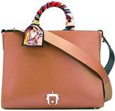 Paula Cademartori printed strap tote bag - women - Calf Leather - One Size