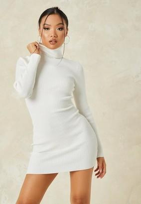Missguided Roll Neck Knit Mini Dress