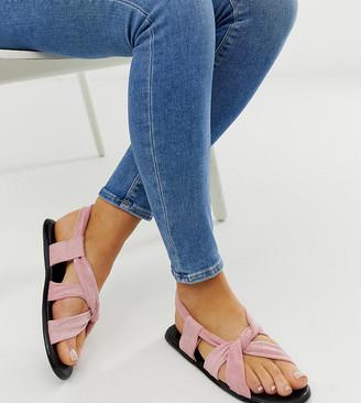 Co Wren wide fit knot pastel sandals